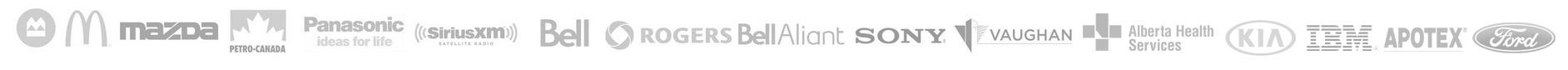 Ford, CIBC, Nortel, IBM, Nissan, Rogers, Bell, Bell Aliant