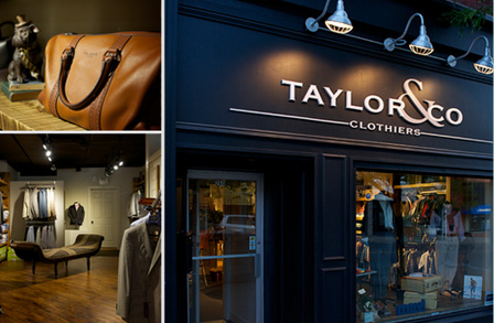 Taylor & Co Clothiers, Branding and logo design