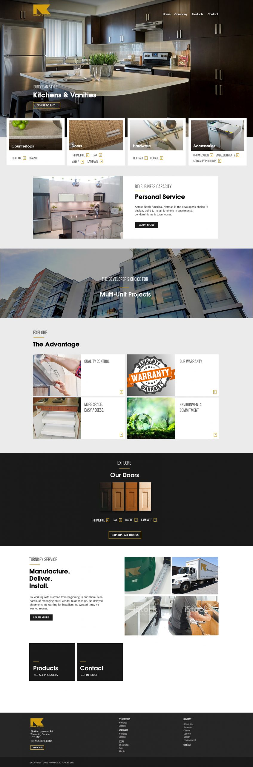 Normac Kitchens Homepage Concept