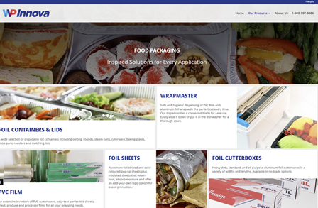 WP Innova Food Packaging Website